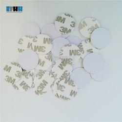 125KHZ EM4305/EM4205 Rewritable RFID Coin Card With 3M Adhensive Sticker In Access Control Card (Diameter 25mm)