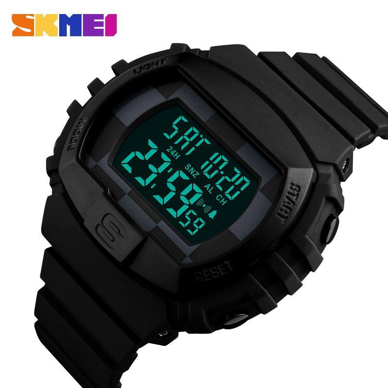 SKMEI Brand Men's Fashion Sport Watches Chrono Countdown Men Waterproof Digital Watch Man military Clock Relogio Masculino 2017