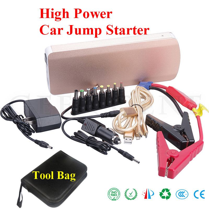 2017 Multi-Function 18000mAh Car Jump Starter 800A Peak Car Charger For Car Battery Booster 2USB 2Laptop Power Bank Auto Starter