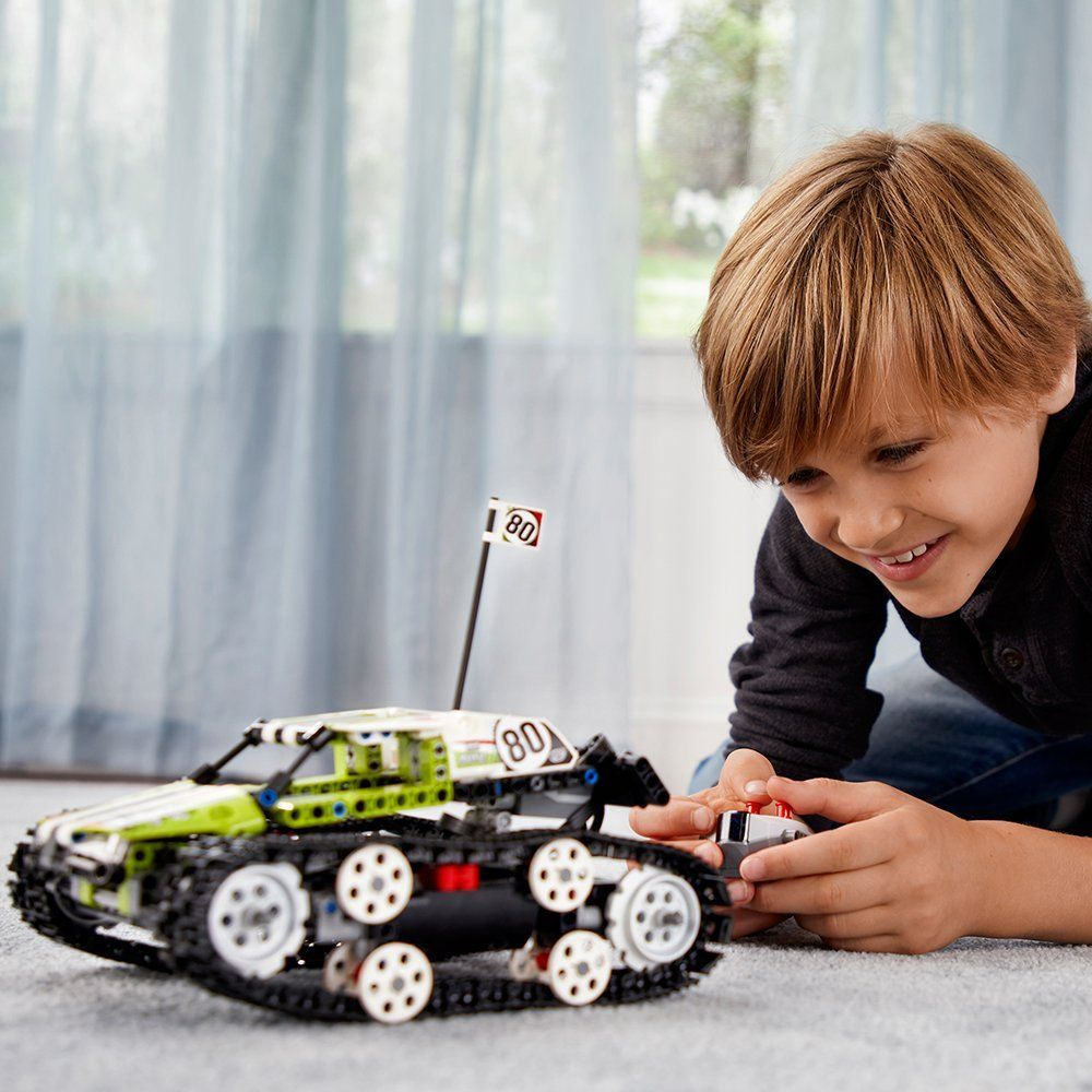 Technic Series The RC Track Remote-control Race Car Set Building Blocks Bricks Educational Toys Compatible with Legoings