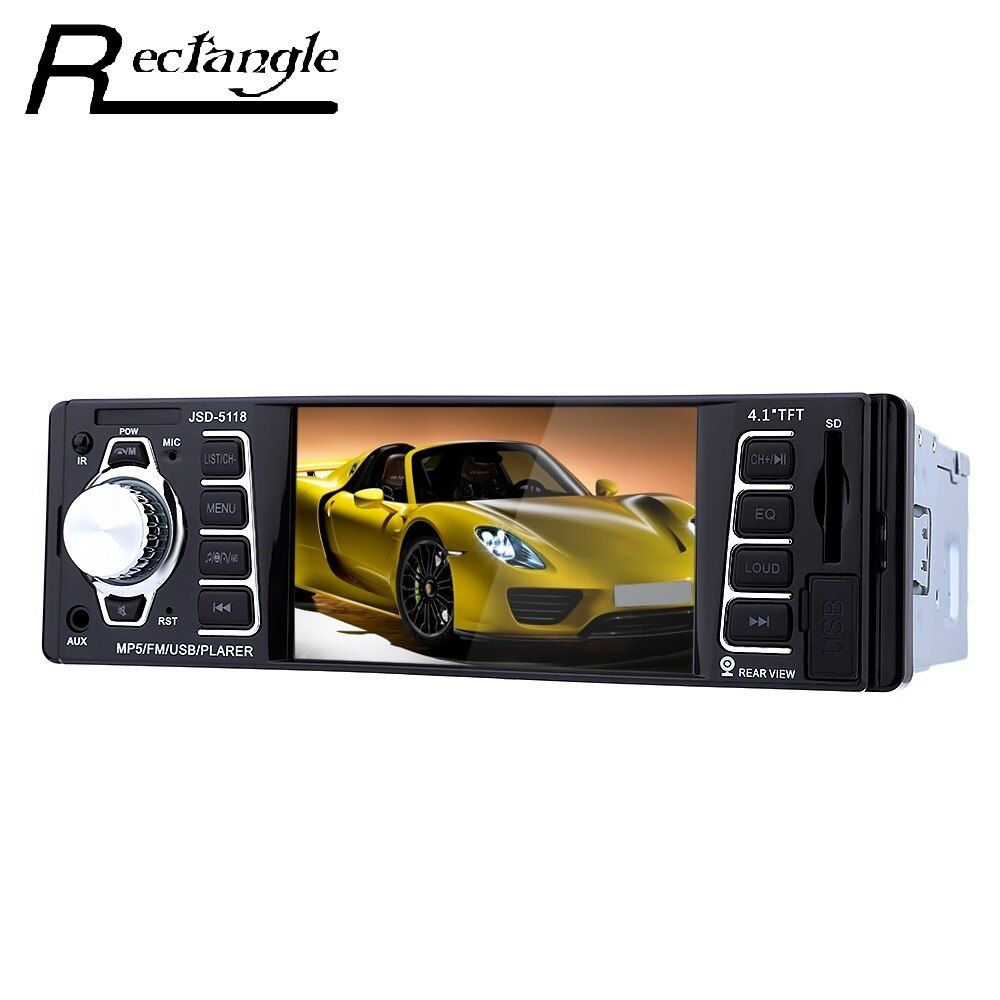 JSD - 5118 7020G 4.1 Inch Car MP5 Player 1080P Bluetooth Digital Audio Stereo FM Videos USB Support SD Card With Remote Control