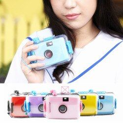 OOTDTY Underwater Waterproof 5 Colors Lomo Camera Mini Cute 35mm Film With Housing Case New