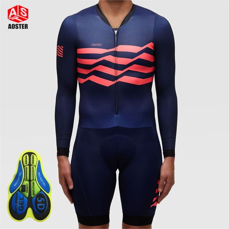 AOSTER 2017 men Cycling Jerseys Ropa Ciclismo Mujer Pro Team Cycling Clothing Jumpsuit Skinsuit Bike Wear Triathlon Sport