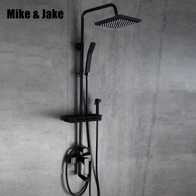 Four function Black shower set with bidet shower bathroom bidet shower set black Bathtub black bidet shower set MJ98888