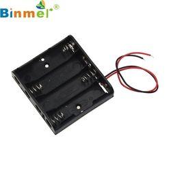 Binmer 1pcs AA Power Battery Storage Case Plastic Box Holder With 4 Slots Top Quality Hot Sale JUN 20 Drop Ship