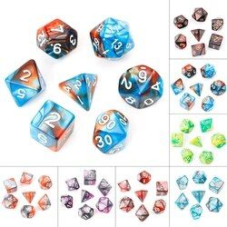 7Pcs/Lot 1Acrylic Polyhedral Dice for TRPG Board Game Dungeons And Dragons D4-D20