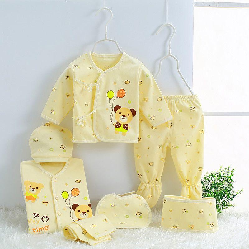 2019 CHAUD! 7 pièces/ensemble 100% coton matériel nouveau-né bébé vêtements Kits complets pour enfants coton matériel bébé vêtements garçon fille nouveau-né