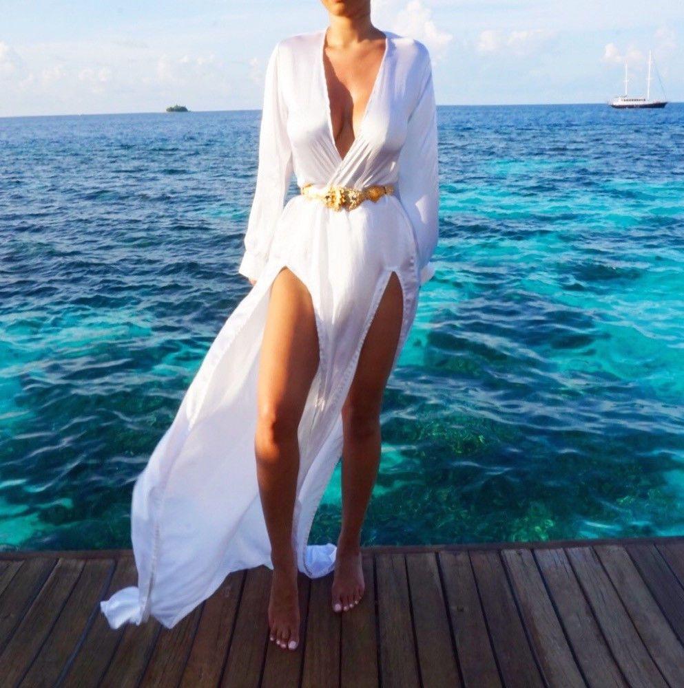 Sommer Frauen Strandkleid Cover Up Kaftan Chiffon Strand Tragen Schwimmen Bikini für Weibliche