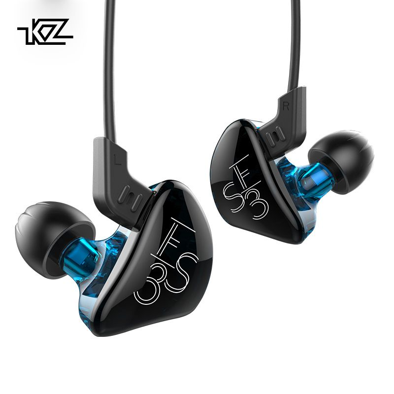 KZ ES3 Hybrid Dynamic And <font><b>Balanced</b></font> Armature Earphone In Ear HIFI Stereo Sport Headset Suitable Bluetooth Official Fast Delivery