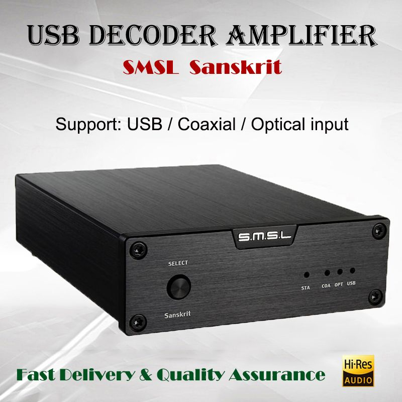 SMSL Sanskrit 6th Décodeur Amplificateur USB DAC Audio AMP Salut-fi Portable Decodificador 32bit Puissance Amplificador