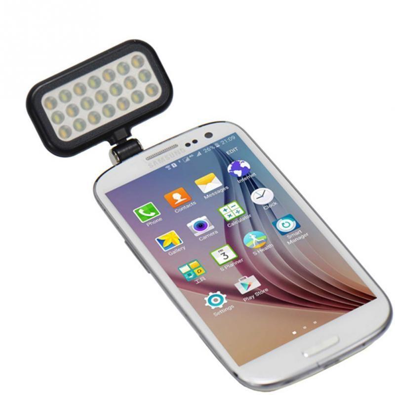 LED Éclairage Selfie Flash Remplir Lumière Pour Téléphone Appareil Photo Objectif Pour iPhone 4 5 5C 5S SE 6 6 S 7 Multiples Photographie Selfie Sync Flash