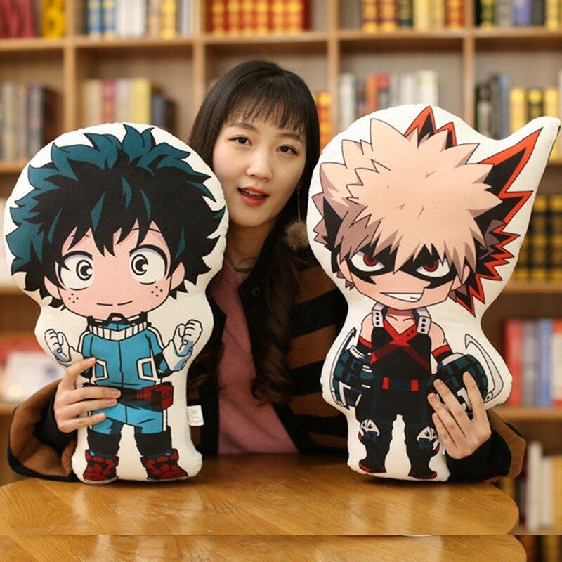 ZHAIDIANSHE anime High quality bakugou katsuki Todoroki Shoto Midoriya Izuku short plush pillow soft bolster toys for children