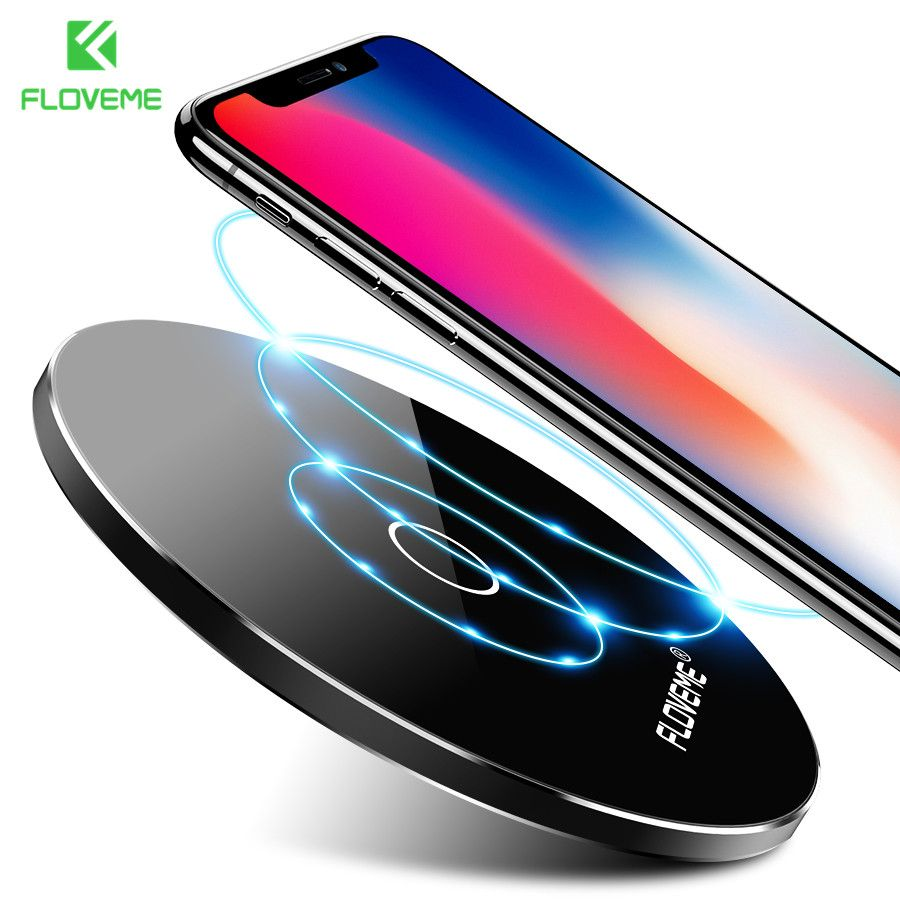 FLOVEME 5V/2A QI Fast Wireless Charger For Samsung Galaxy S8 S7 S6 Edge All Qi-Enabled Devices Charger For iPhone X 8 8 Plus