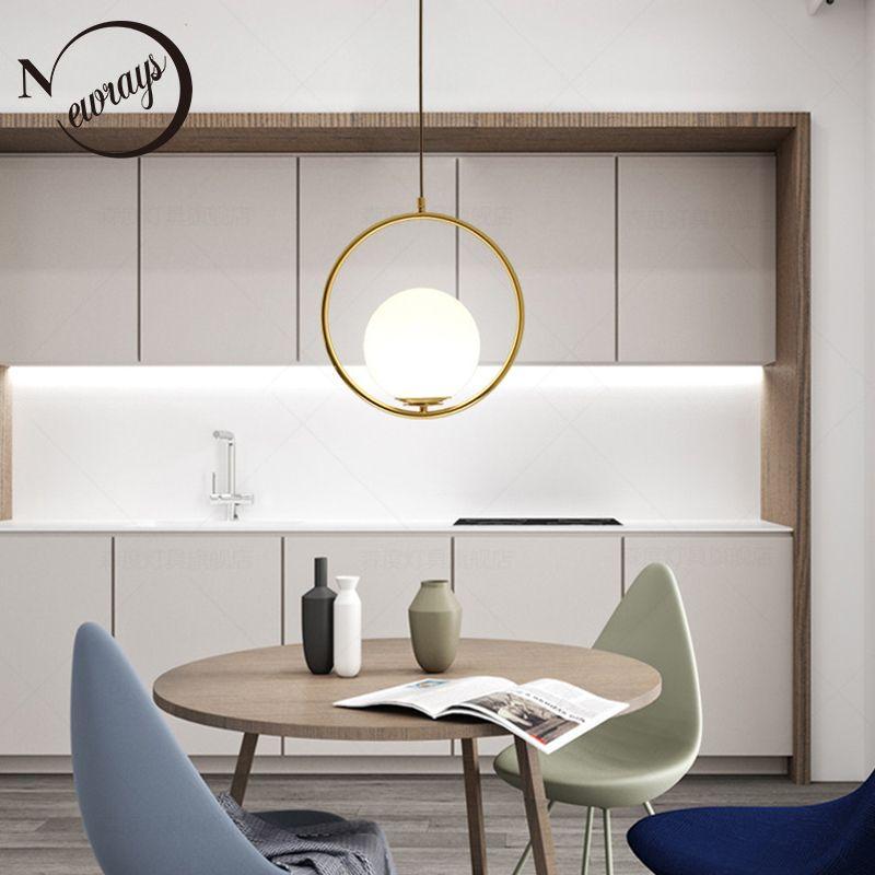 Einfache eingekreist eisen glas anhänger licht LED E27 loft moderne hängende lampe mit 2 farben für parlor esszimmer lobby restaurant