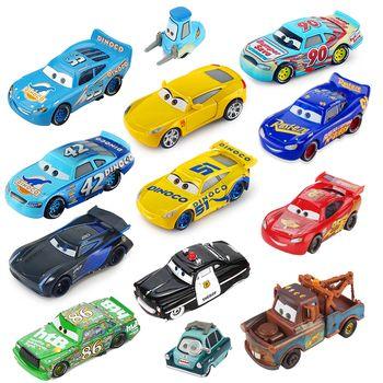 Disney Pixar Voitures 3 Foudre McQueen Jackson Tempête Mater 1:55 Diecast Metal Alliage Modèle De Voiture Jouet Cadeau D'anniversaire Enfants Garçons