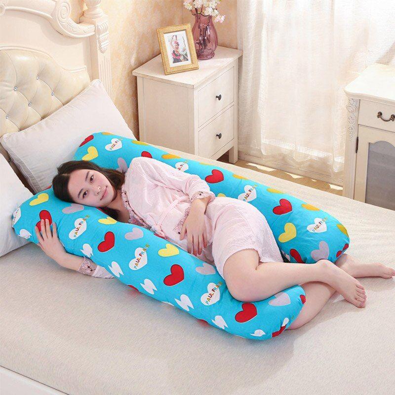 130*70CM pregnancy Comfortable U shape Maternity pillows Body cartoon pregnancy pillow Women pregnant Side Sleepers cushion