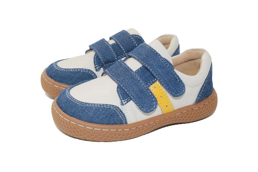 2018 Fashion designer SCHOOL boys girls leather kids shoes for boys girls kids children shoes sneakers Blue