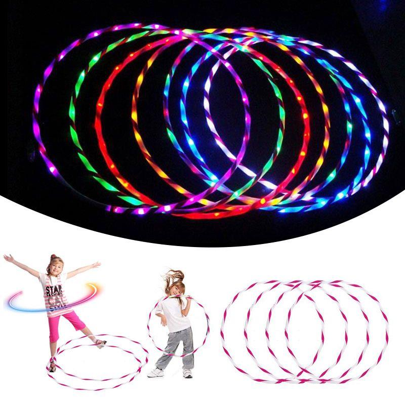 90 CM Resplandor LED Hula Hoop Hoop Deportes Juguetes Perder Peso Juguetes Kids Light Up Juguetes El Envío Libre