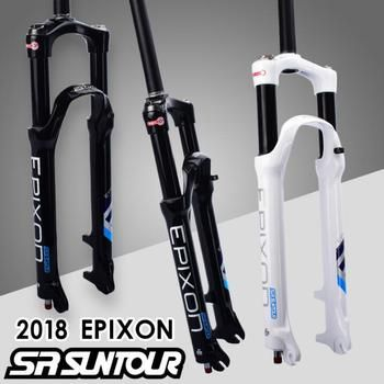 2018 SR SUNTOUR EPIXON Bike Fork 26 27.5 29 er Disc Brake Remote Shoulder control Mountain MTB air damping black & blue logo