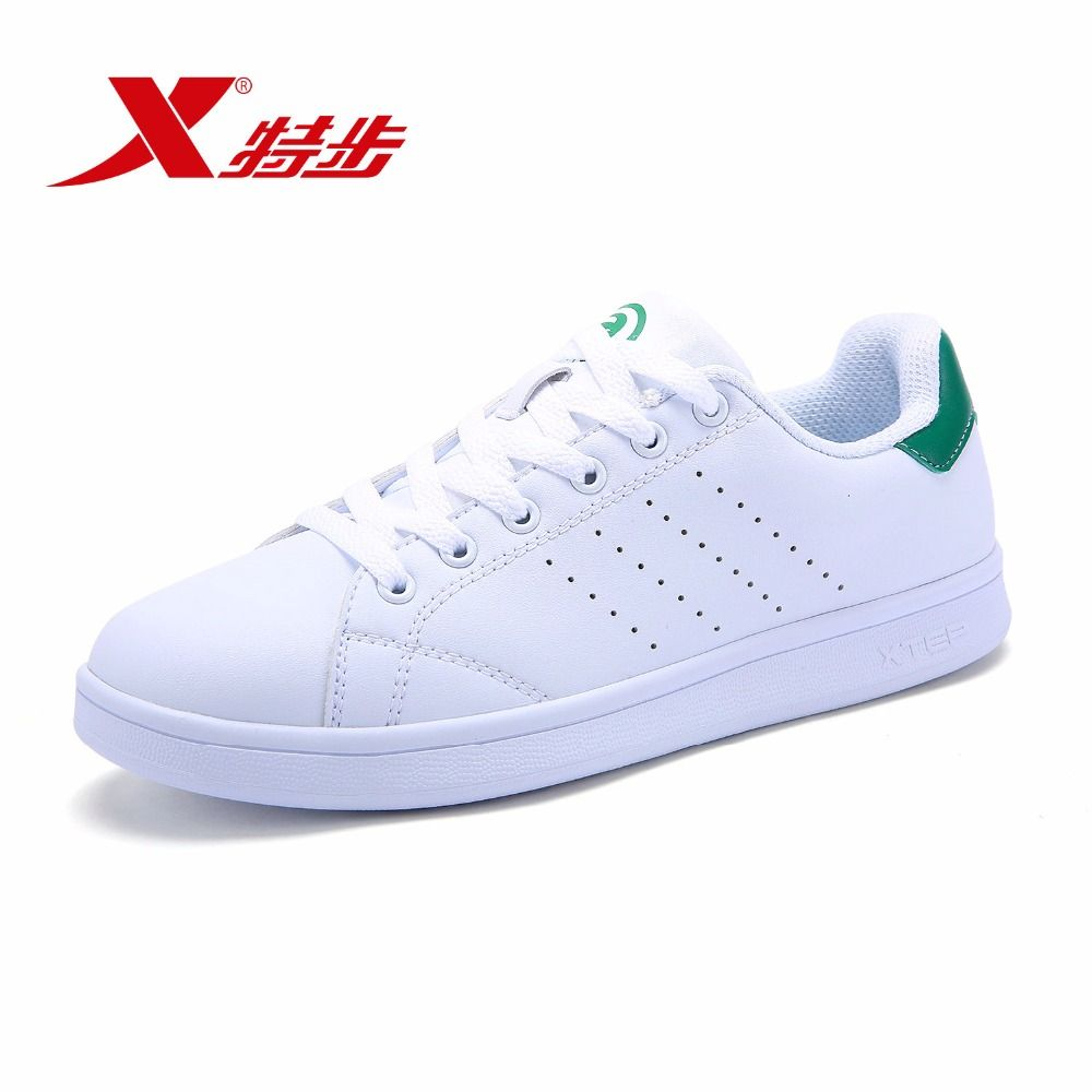 983218319266 XTEP 2018 Unisex Seller Recommend Couple Leather Man Women White Stan Sneakers Skateboarding Shoes