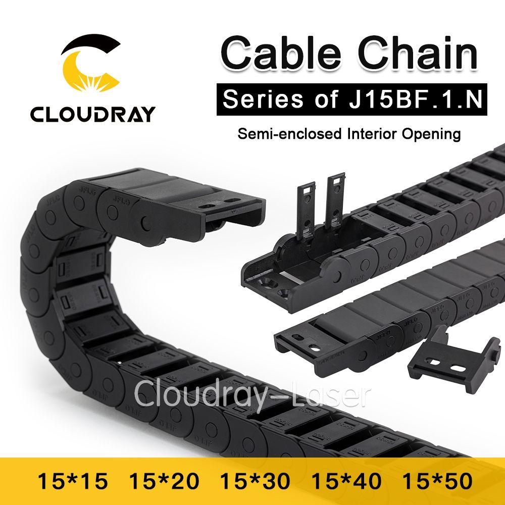 Cloudray Cable Cadena Abertura Interior Semi-Cerrado 15x15 15x20 15x30 de Arrastre de Remolque Plástico Accesorios de La Máquina de transmisión