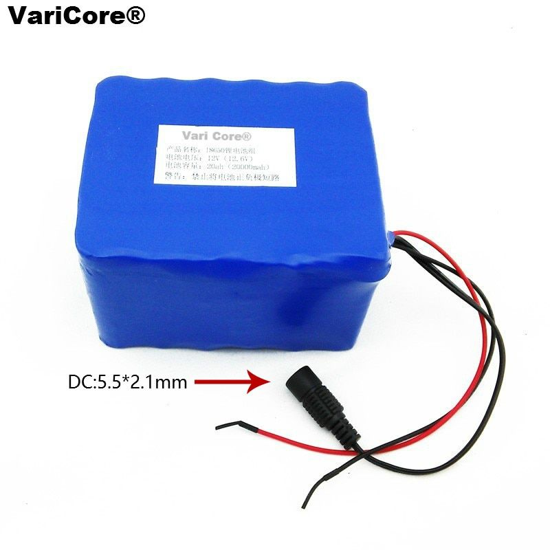 12 V 20000 mAh 18650 lithium battery miner's lamp battery 35w 55 w xenon lamp Battery pack + 12.6V 3A Polymer Charger