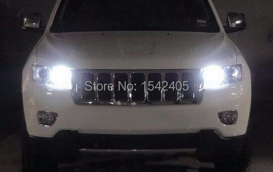 For Jeep Grand Cherokee 2011 2012 with HID headlights Excellent Xenon White Reflector 3157 LED Bulbs Daytime DRL Light led light