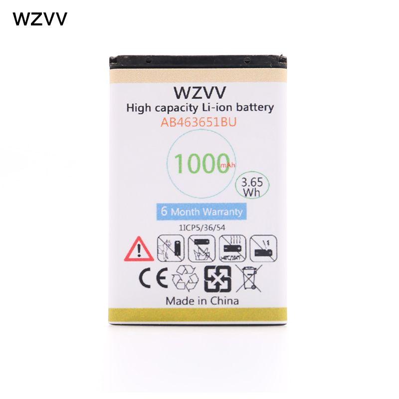 Wzvv 1000 mah Batterie AB463651BU pour Samsung W559 S5620I S5630C S5560C C3370 C3200 C3518 J808 F339 S5296 C3322 L708E S5610