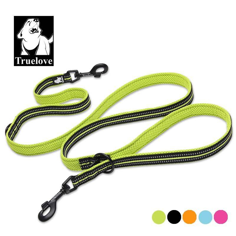 Truelove 7 In 1 Multi-Function Adjustable Dog Lead Hand Free Pet <font><b>Training</b></font> Leash Reflective Multi-Purpose Dog Leash Walk 2 Dogs