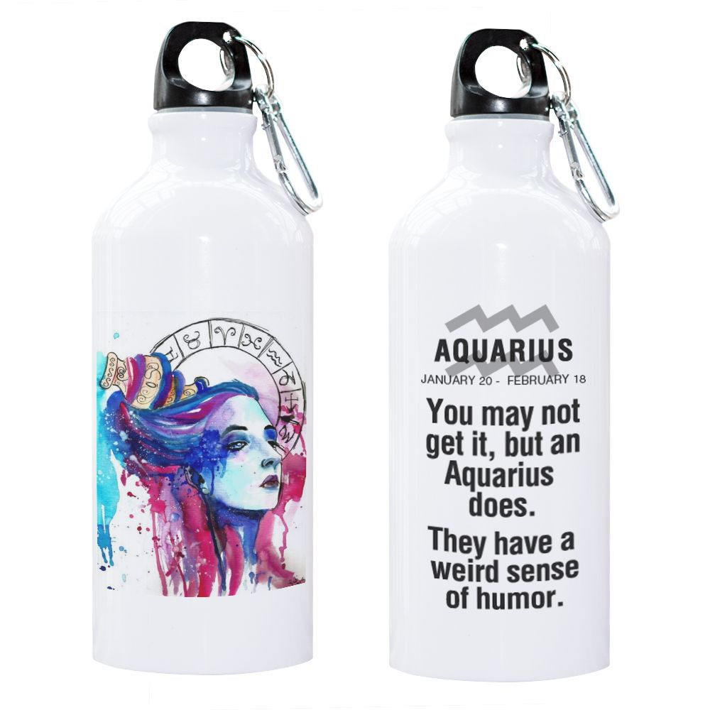 12 Constellation Zodiac Sign Libra Scorpio Sagittarius Capricorn Aquarius Pisces Sport Water Bottle Gift Zodiac Present Creative