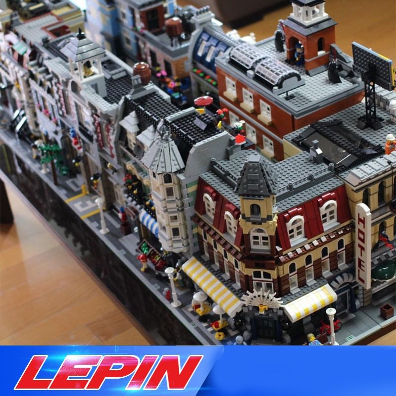 DHL Lepin STADT Street view architecture Creators 15001 15002 15003 15004 15005 15006 15007 15008 15012 15010 15019 15035 legoed