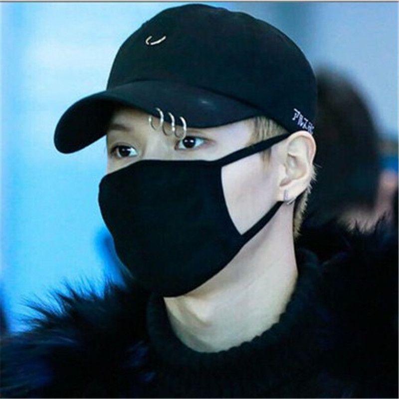 Vente chaude 2NE1 CL bigbang G-gdraon BTS JIMIN SUGA V Mode K-pop Anneau De Fer Chapeaux De Baseball réglable cap100 % coton