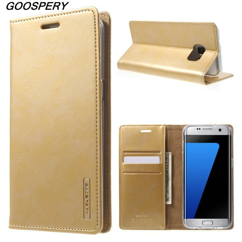 Original Case For Samsung Galaxy S 7 Edge MERCURY GOOSPERY Blue Moon PU Leather Wallet Cover Case for Galaxy S7 Edge G935 S7 S6