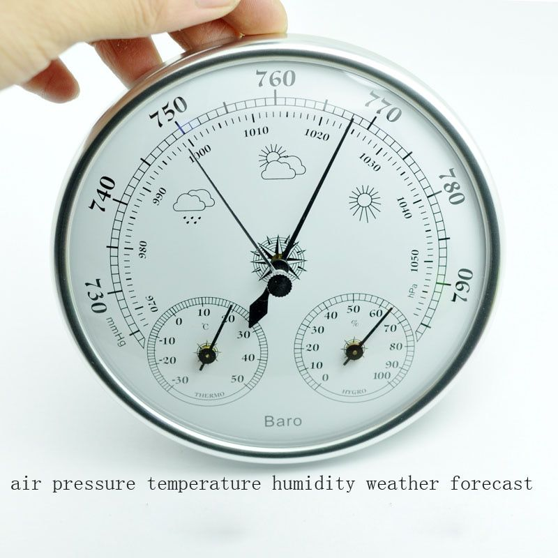 Hot selling Wall mounted household thermometer hygrometer high accuracy pressure gauge air <font><b>weather</b></font> instrument barometers