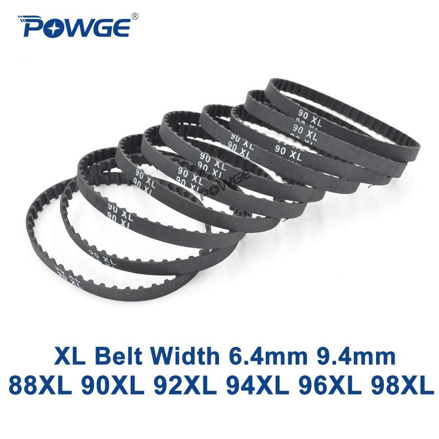 POWGE XL Timing belt 88/90/92/94/96/98 Width 6.4mm 025 9.4mm 037 Teeth 44 45 46 47 48 49 Synchronous Belt 88XL 90XL 92XL 94XL