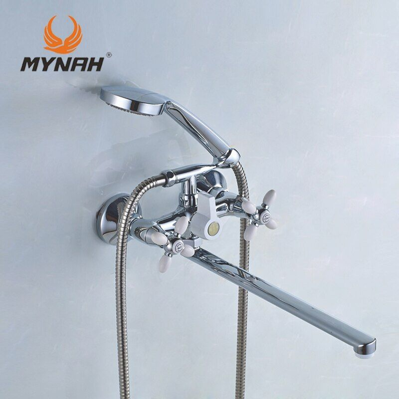 MYNAH Russia free shipping classic shower faucet bathroom faucet dual control multi color selection