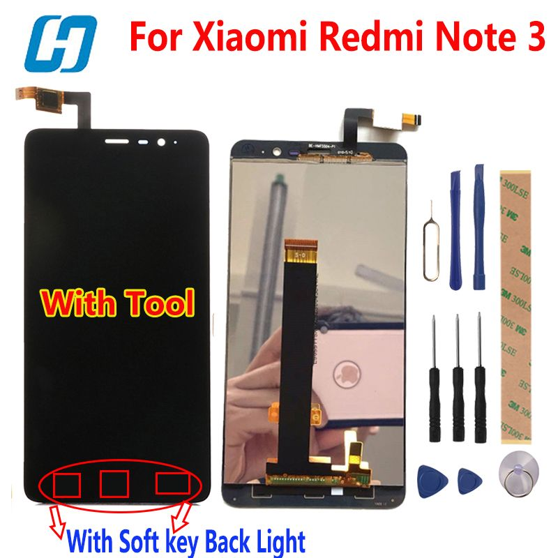 For Xiaomi Redmi Note 3 Touch Screen LCD Display +Touch Panel Digitizer Accessory Panel For Xiaomi Redmi Note 3 Pro Prime 5.5'