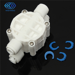 4 Way 1/4 Port Auto Shut Off Valve For RO Reverse Osmosis Water Filter System
