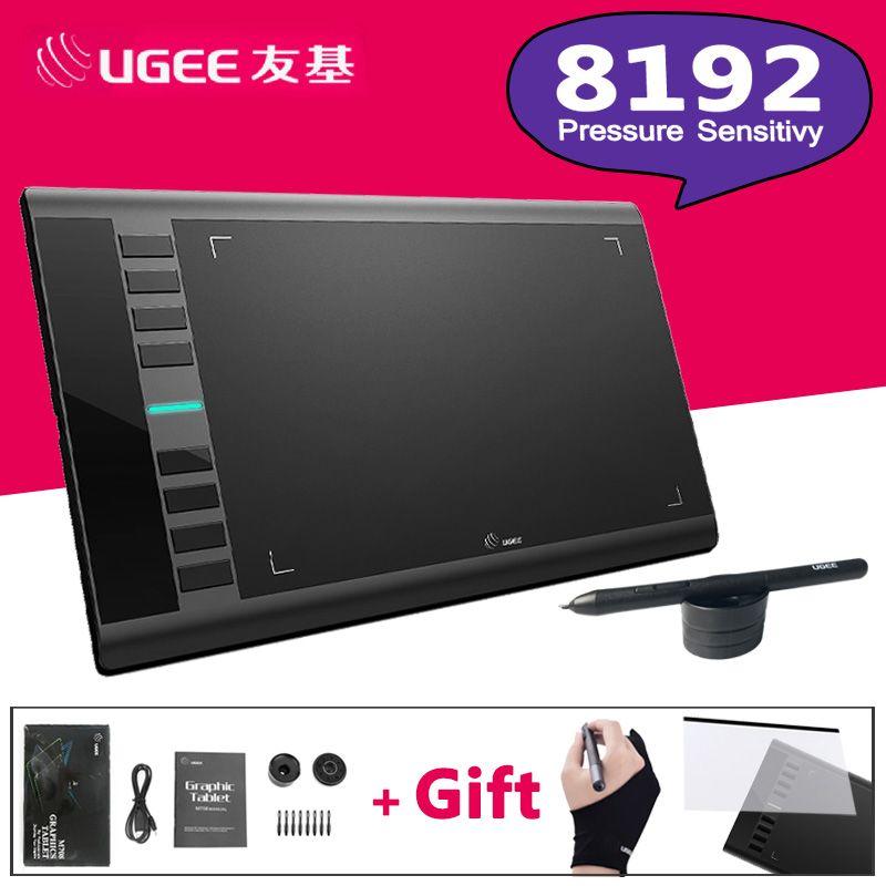 UGEE M708 8192 Niveaux Graphique Dessin Tablet Numérique Tablet Signature Pad Dessin Stylo pour Écrire Peinture Pro Designer wacom