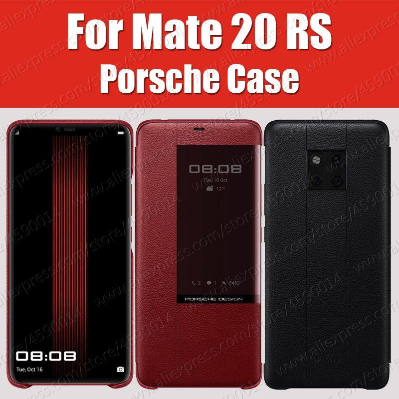 Sync offizielle 100% Original Mate 20 RS Fall Echtem leder Smart View Flip-Cover Für HUAWEI Mate20 RS Fall Porsche design