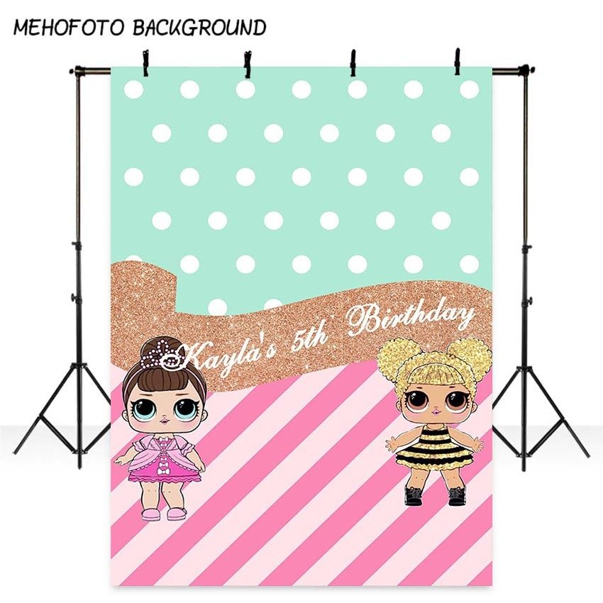 MEHOFOTO Birthday Photography Backdrops Cartoon Dolls for Party Decor Photo Background Professional Custom Photo Pictures