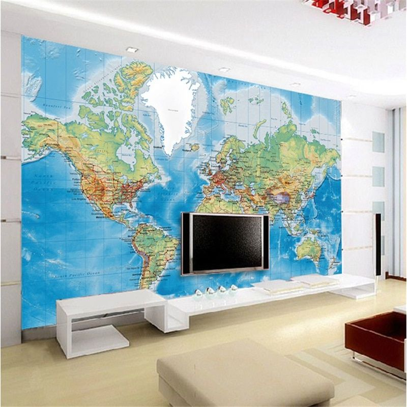 Beibehang chambre papel de parede 3 d TV réglage papier peint mural recherche monde papier peint énorme cartes murales papier peint pour murs 3 d