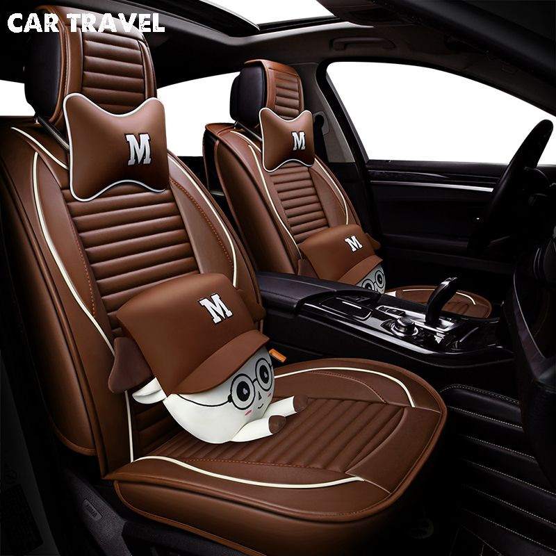 pu Leather car seat cover For mercedes cla ford focus 3 seat leon 2 nissan micra teana j32 toyota auto accessories car-styling