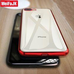 WeiFaJK Téléphone Cas pour iPhone 8 7 6 Plus 6 s Silicone Souple Coque De Luxe TPU Full Cover Case pour iPhone 6 7 7 Plus 8 8 Plus X cas