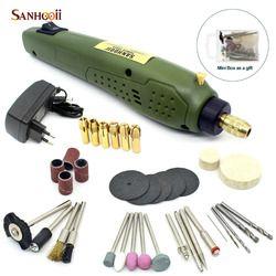 SANHOOII Rotary Power Tool 16000 rpm Portable Électrique Forage 0.5-3.15mm Accessoires Pour dremel Broyage De Forage Perceuse Électrique