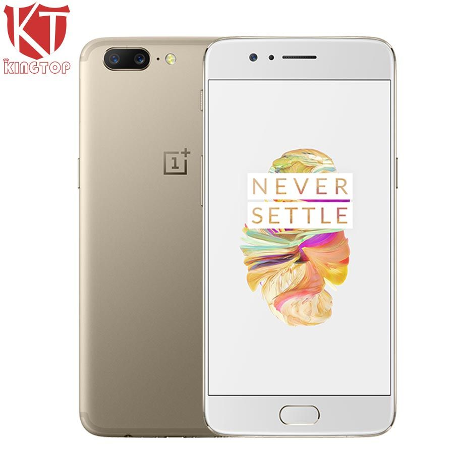 Original OnePlus 5 4G LTE Mobile Phone 5.5 6GB 64GB Snapdragon 835 Octa Core 3 Camera Android 7.0 20MP 3300mAh NFC Fingerprit