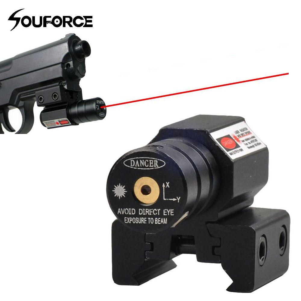 Vue Laser à point rouge américain pour Picatinny et fusil avec 635-655nm réglable 11mm/20mm montage Picatinny/tisserand livraison gratuite