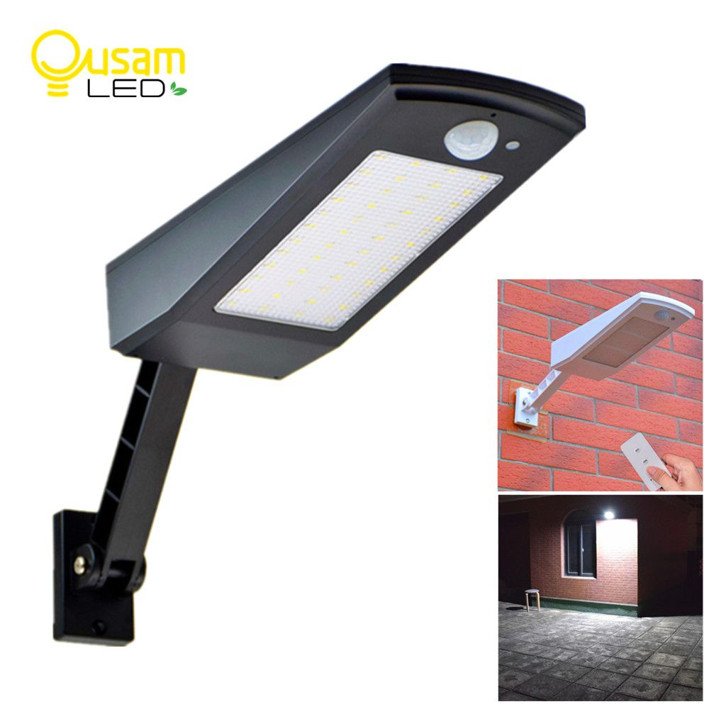 900LM Solar Light PIR Motion Sensor 48 LED Auto With Remote Control Adjustable Solar Powered Lamp Waterproof For Garden Outdoor