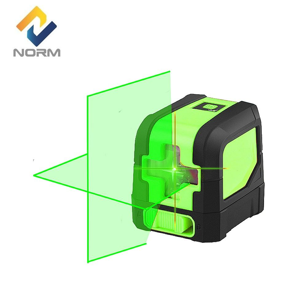 Norm Mini 2 Cross Lines Laser Level Red Beam or Green Beam Self-Leveling Laser Level without bracket
