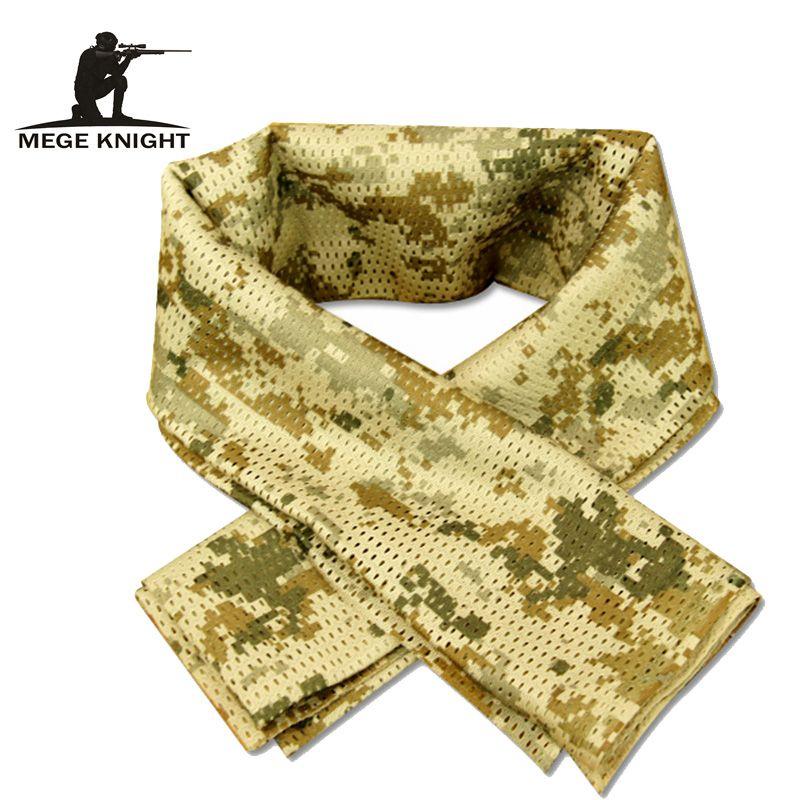 Tactique Militaire camouflage Écharpe Cool Airsoft Tactique Multifonctionnel Armée Mesh Respirant Écharpe Wrap Masque Shemagh Voile